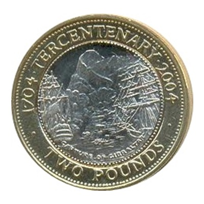 2004 £2 Coin - Tercentenary of the Capture of Gibraltar